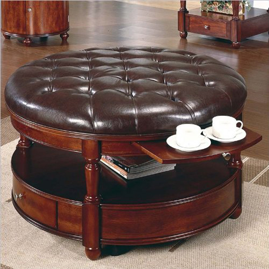 Contemporary Round Coffee Tables With Storage D Design Inspiration
