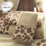Unique Brown Animal Print Bath Towels