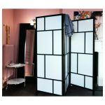 Wall Partitions Ikea With Black Frame And White Mirror Towel Holder