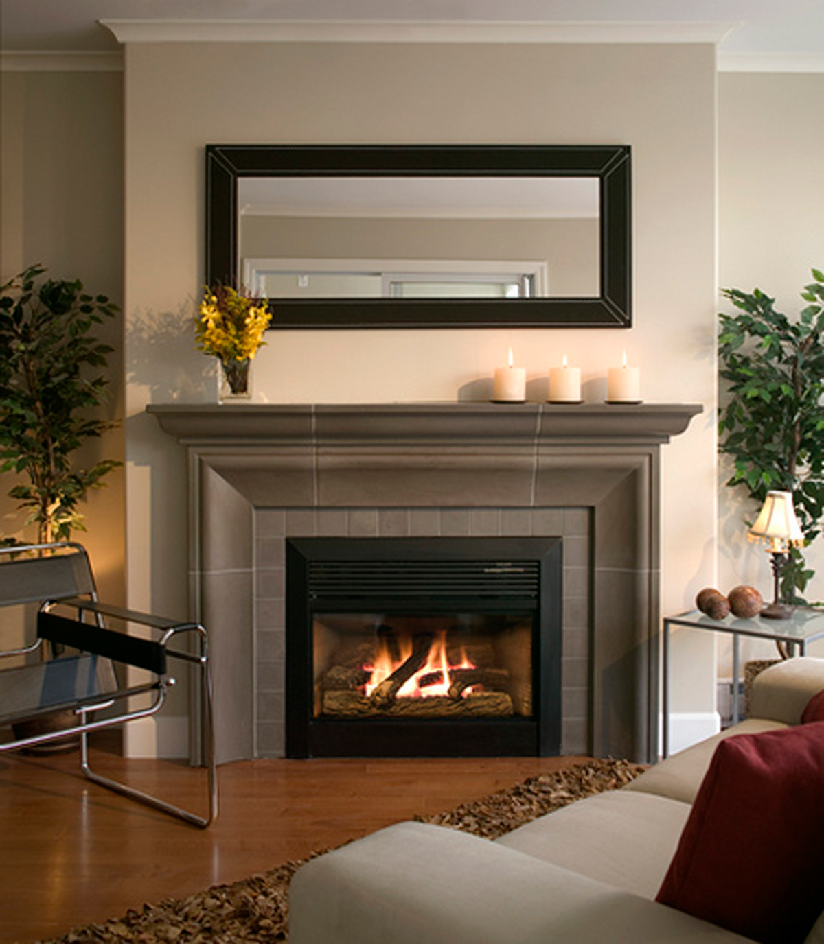 Warm Classic Design Of Fireplace In Living Room With Fireplace Style