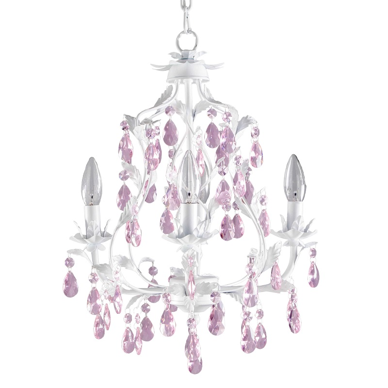 Pretty Pink Chandelier For Girls Room - HomesFeed