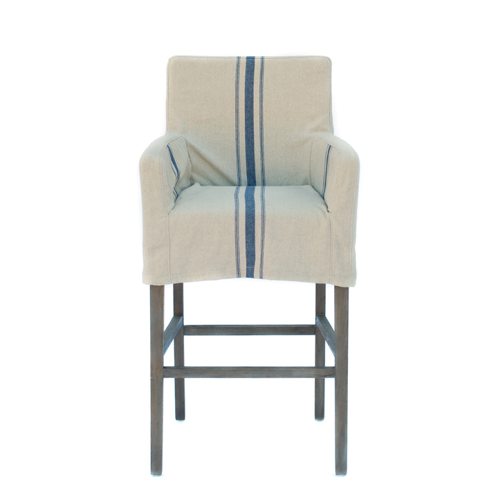 Target Counter Height Stools Images Contemporary  : White Blue Stripped Bar Stool Slipcovers from flowersaustralia.co size 720 x 709 jpeg 126kB