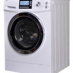 White Combo Used Apartment Size Washer And Dryer