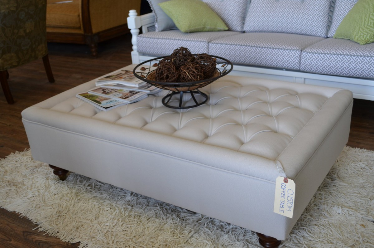 White Large Square Storage Ottoman On Fur Rug With White Patterned Sofa - Large Square Storage Ottoman HomesFeed