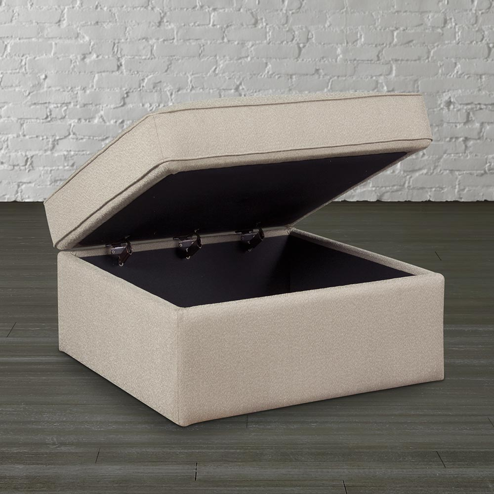 Perfect White Large Square Storage Ottoman