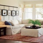 White Slipcovers For Sectional Couches And Ottomans Plus Wooden SIde Table And Red Stylish Rug