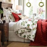 Winter Bedding Winter Theme Of Duvet Cover Green Floral Design And Red Color