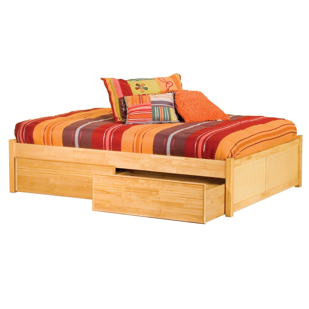 Wooden Beds With Storage ~ Awesome twin bed with drawers underneath homesfeed