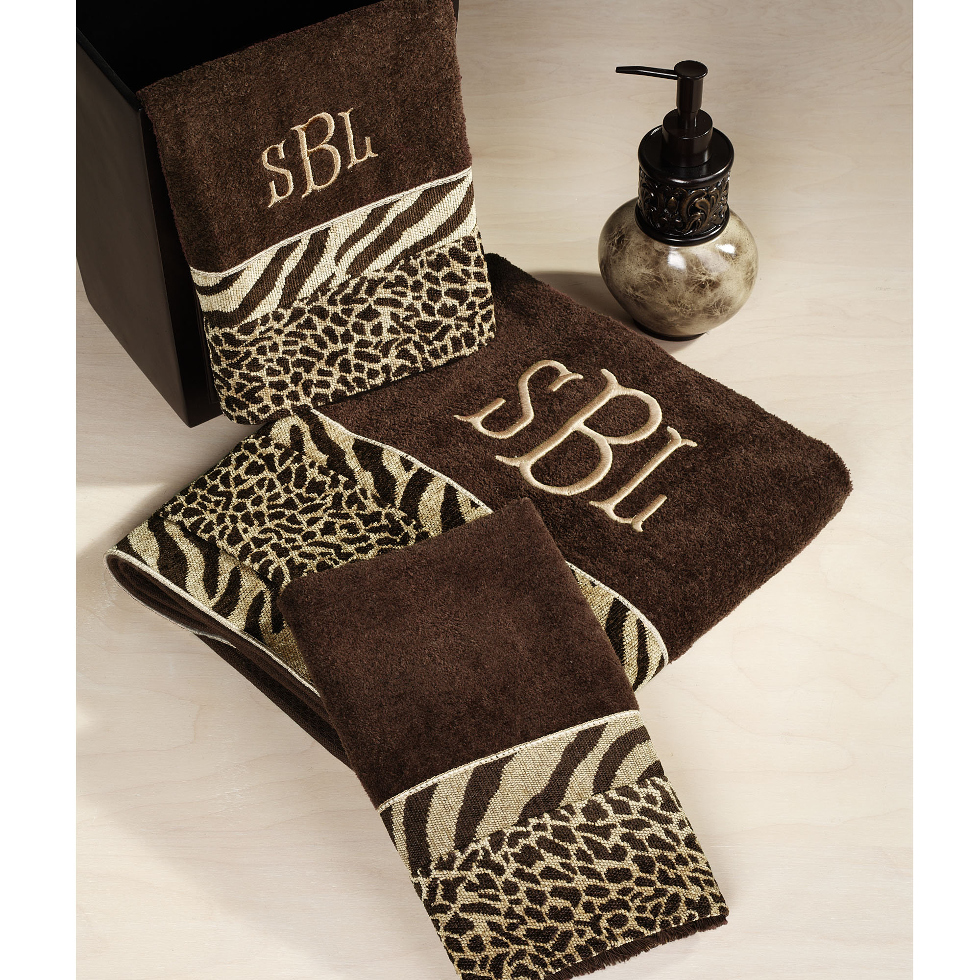 Zebra Animal Print Bath Towels