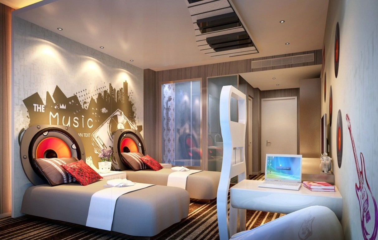 Bedroom Decoration For Music Lover Best Decorating Ideas Themed Home Decor