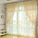 Amazing Cream Color For Large Lace Window Shades