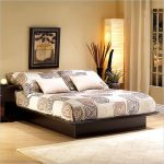 Black South Shore bed frame design in platform model