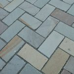 Blue stone paver installation idea