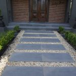 Blue stone paving for footpath