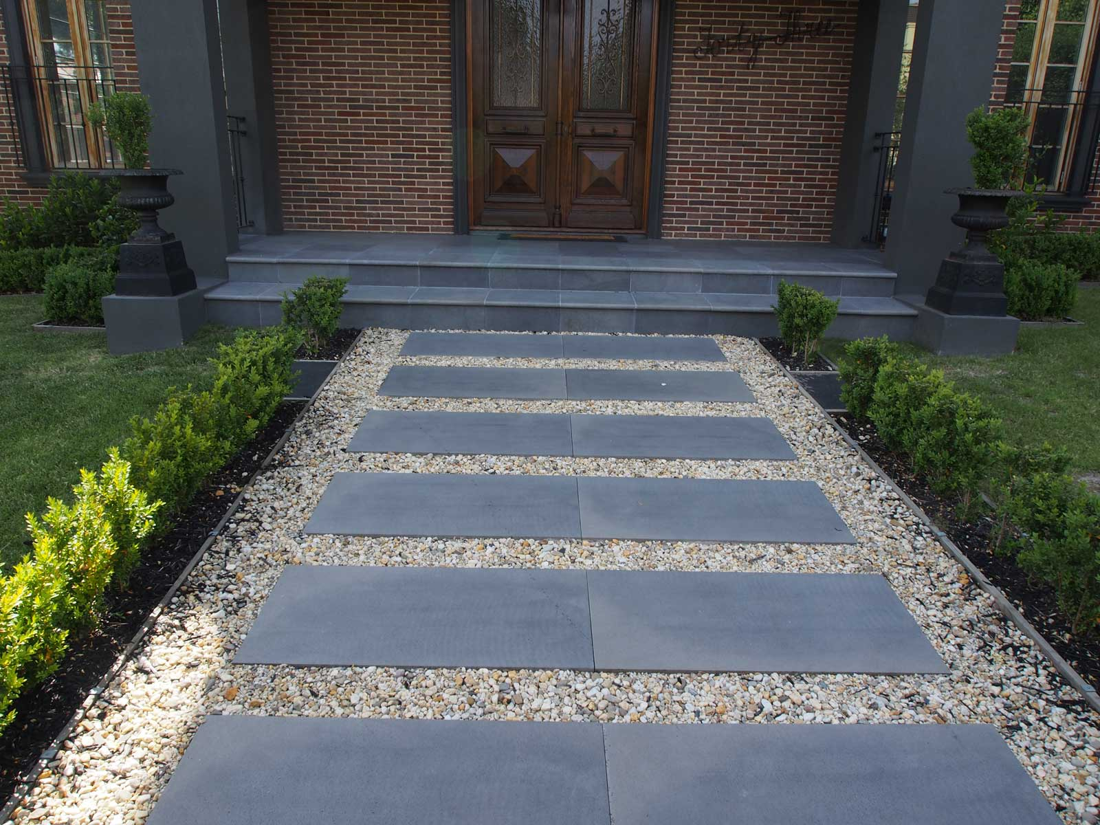 Garden Walkways Blue Stone Pavers Review Homesfeed