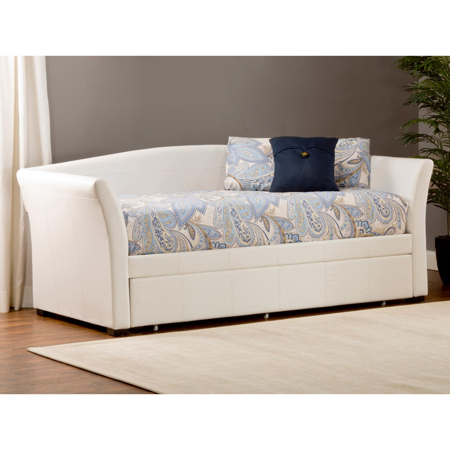 contemporary daybed with patterned upholstery. upholstered daybed with tufted detail  homesfeed