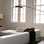 Contemporary floor lamp Lowe wide idea low profile white sectional sofa