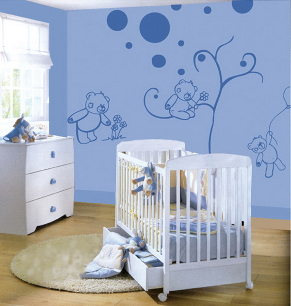 Baby boy nursery theme ideas homesfeed for Baby boy bedroom decoration