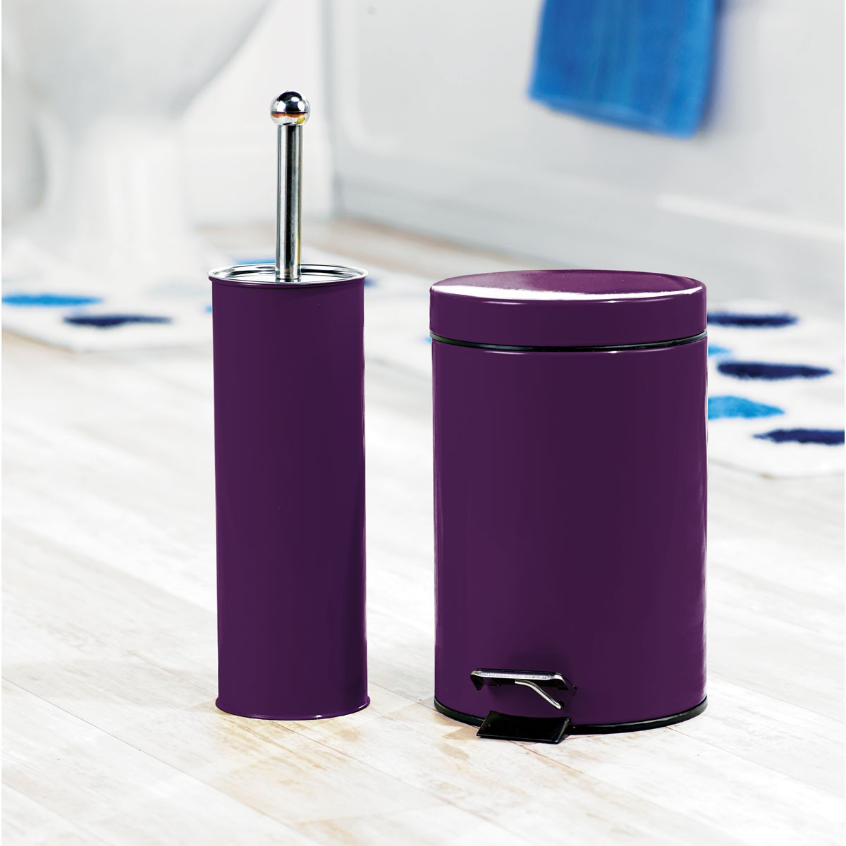 Complete your bathroom with sweet purple bath accessories for Bathroom decor purple