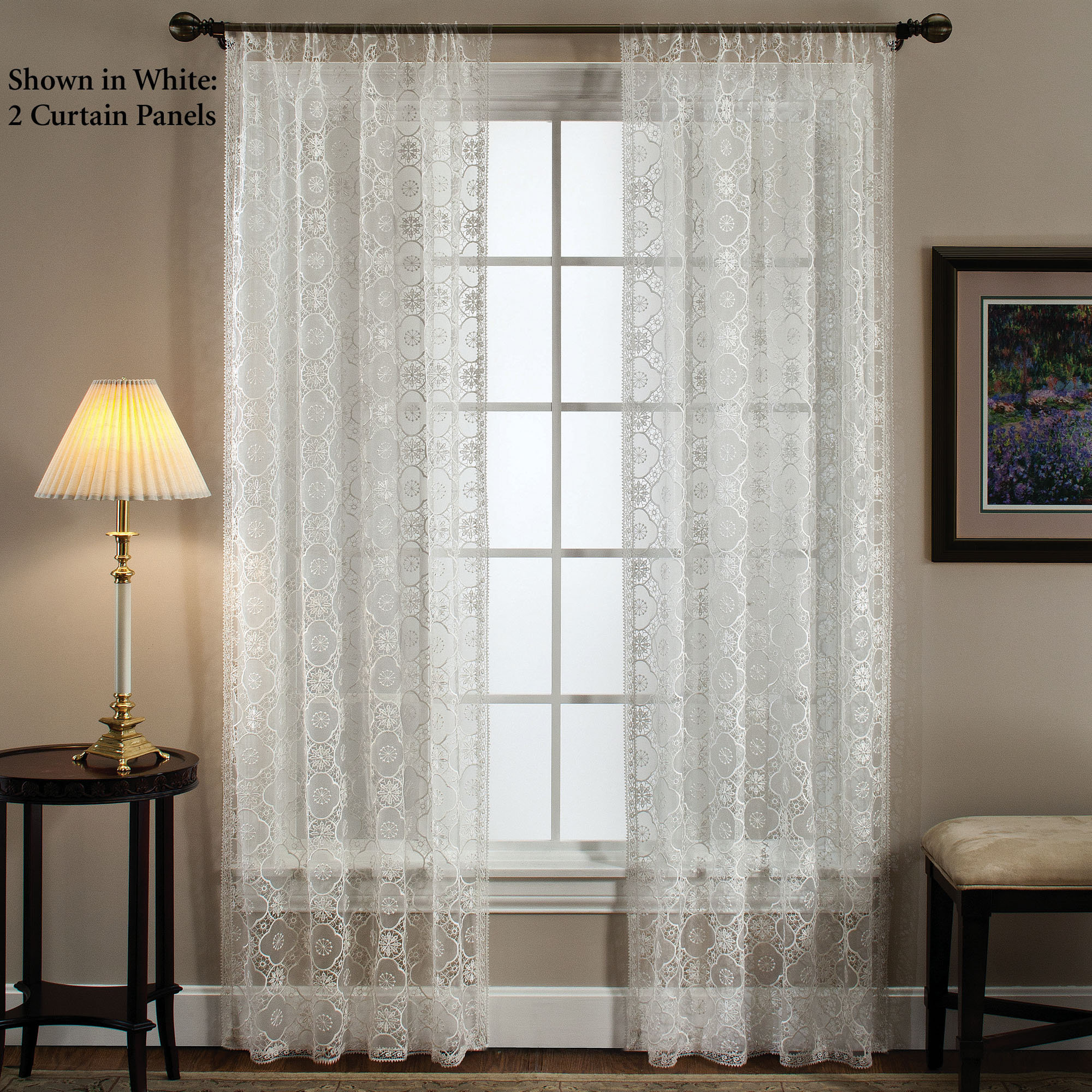 Lace bathroom window curtains - Lace Curtain Window Image Gallery Of Lace Curtain Window Panels