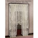 Elegant White Lace Window Shades