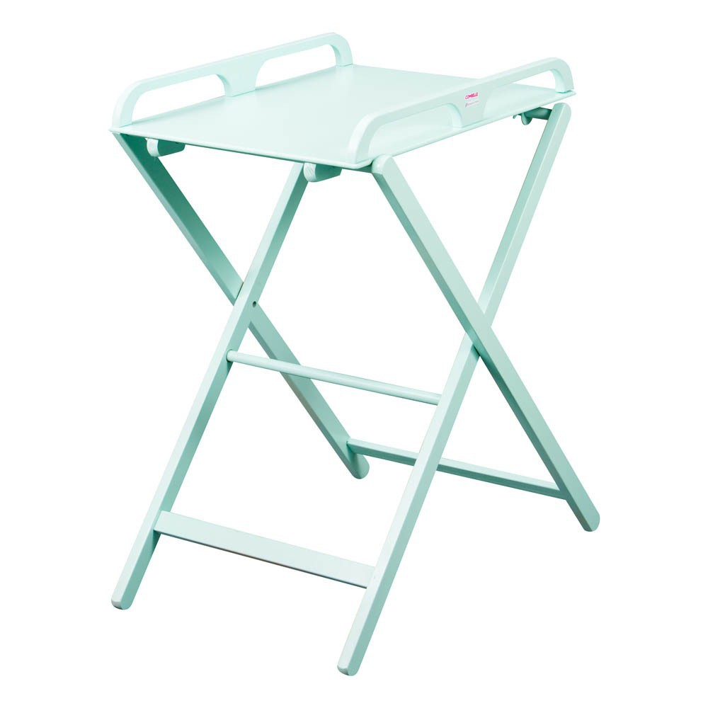 foldable changing table for baby  homesfeed - foldable changing table for baby in light turquoise