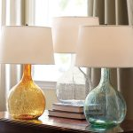 Glass Colorful Table Lamps With Three Colors
