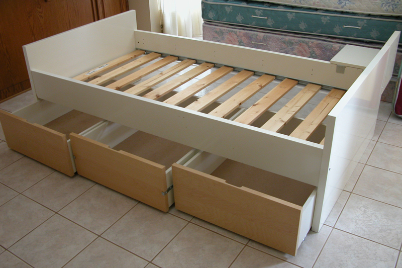 How To Make A Twin Bed With Drawers