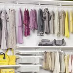 Large clothes and footwear storage system by Elfa