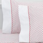 Laura Ashley bed sheet and pillow case with pink motifs