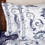 Laura Ashley bedding set in white and blue floral motifs