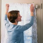 Magnetic rod curtain for interior door white lace curtain