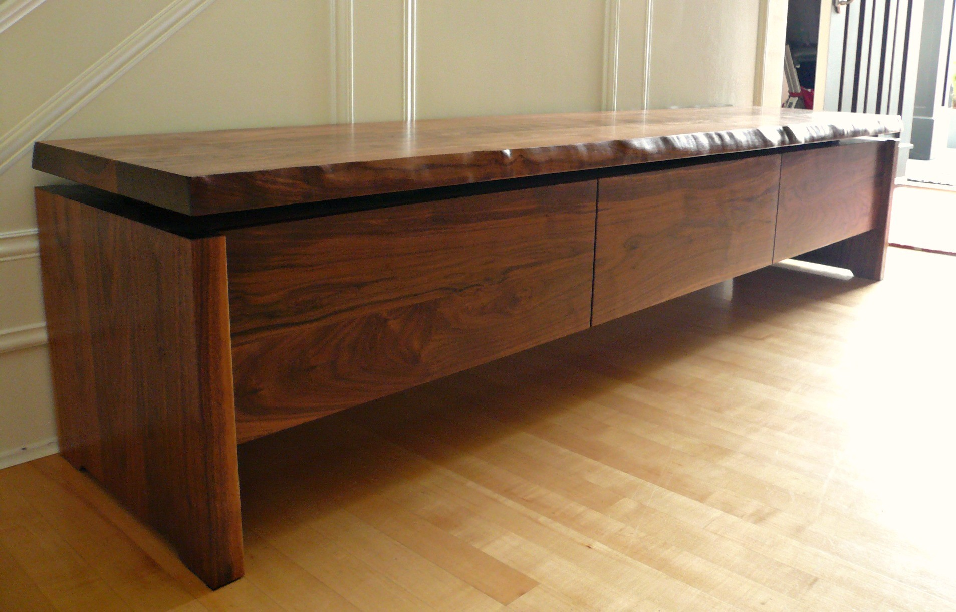 Wood Storage Bench ~ Long bench with storage homesfeed