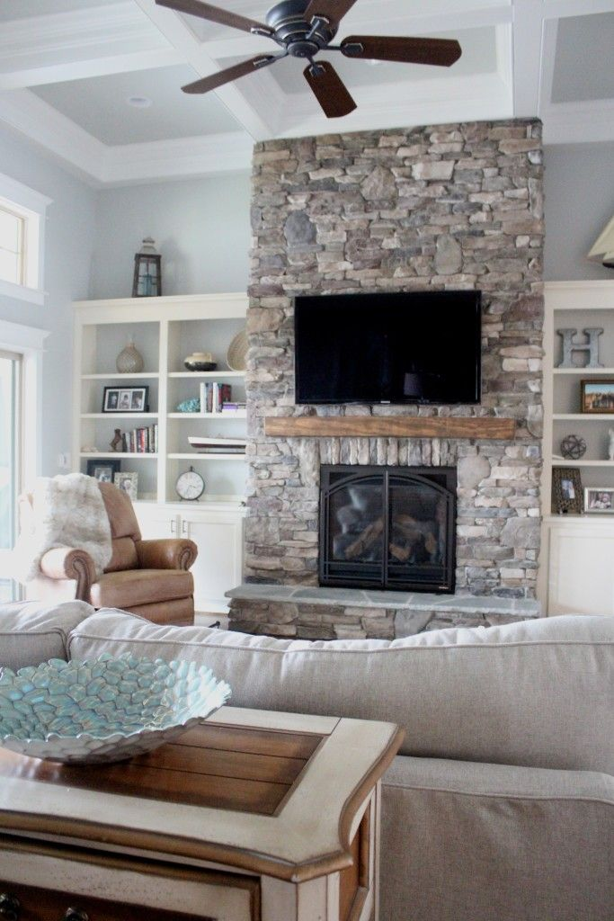 Living Room With Fireplace Design Ideas: Stone Fire Places