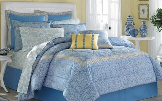 Reversible bedding set in blue designed by Laura Ashley
