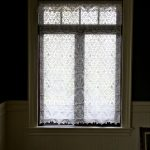 Simple Lace Window Shades On White Window Frame