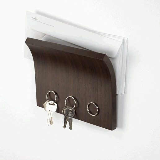 Simple wall mount mail organizer with key holders - Wall Mounted Mail  Organizer: A Best - Wall Mount Mail Holder Cymun Designs