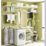 Small Elfa storage system for laundry room