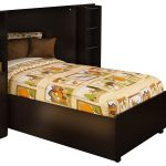 Twin sized South Shore bed frame with headboard and side storage system