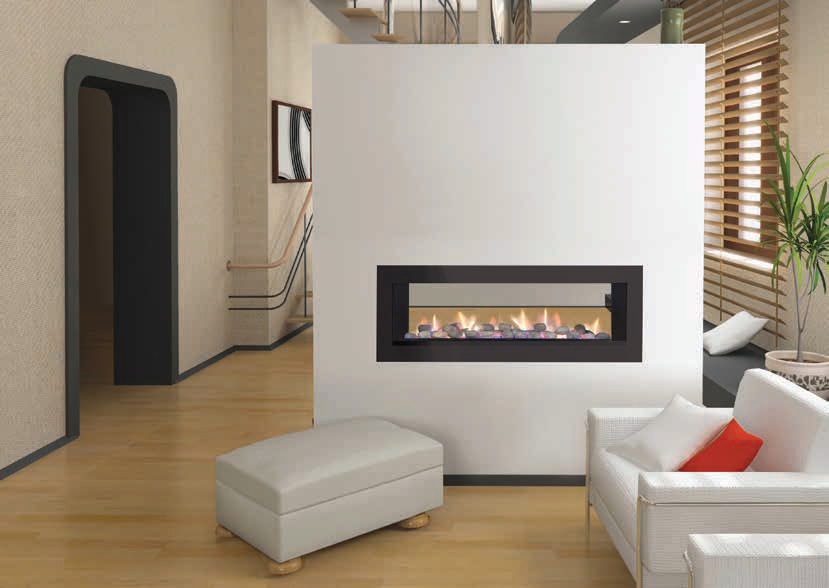 the following gallery shows some designs of double sided gas fireplace