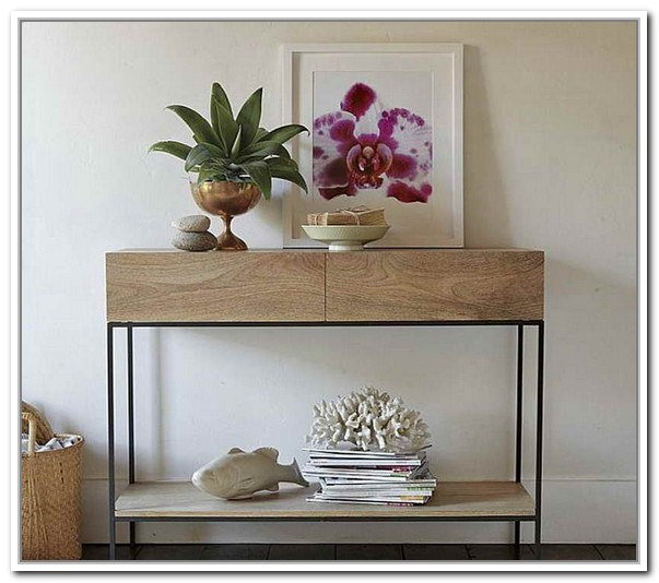 Unfinished Wooden Console Table In Modern Style Designed By IKEA