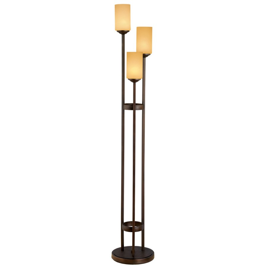 unique floor lamp lowe with warm tone lampshades