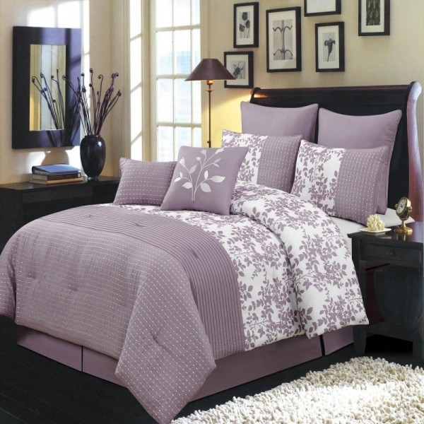 Gray and purple bedding product choices homesfeed - Lavender and gray bedroom ...