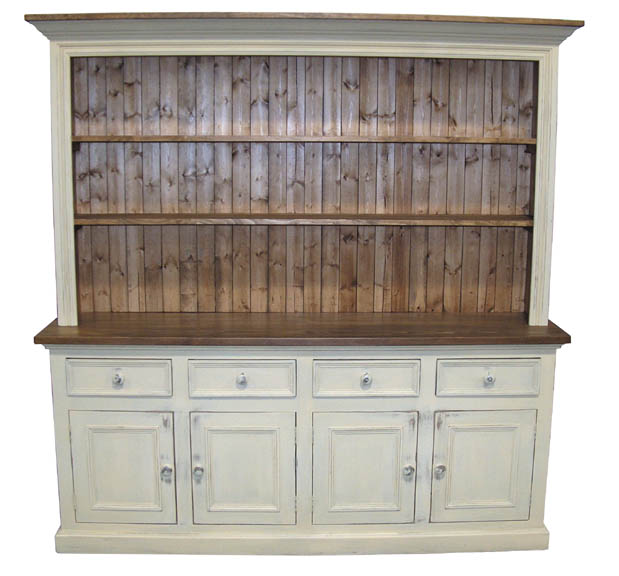 Superior White Classic Sideboard With Hutch
