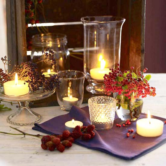 Creative and stunning candle centerpieces for tables for Dining room centerpiece ideas candles