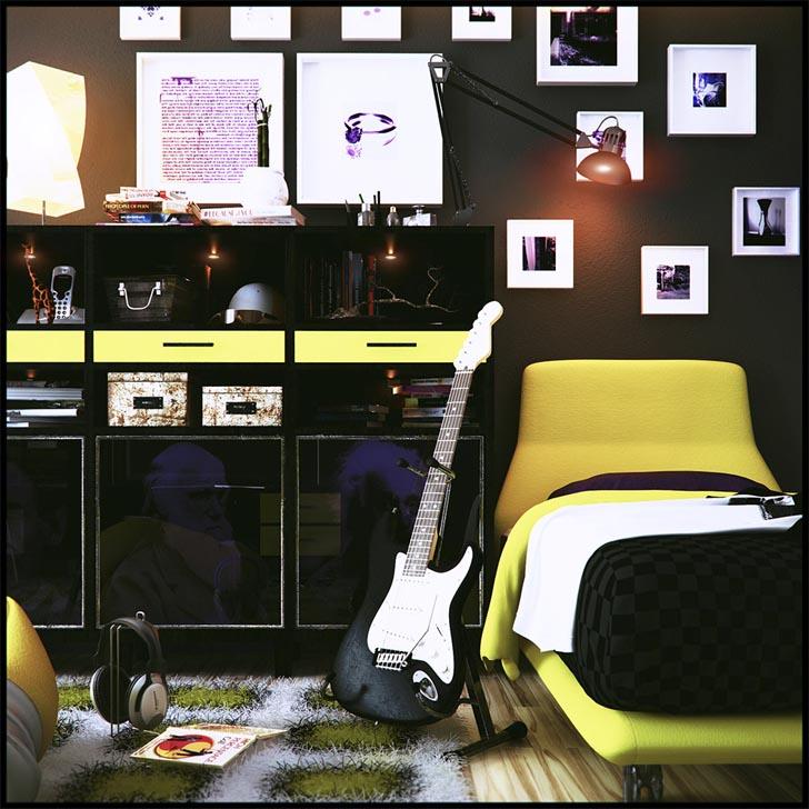 Music Bedroom: Music Themed Décor Ideas