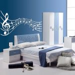music themed bedroom decor idea