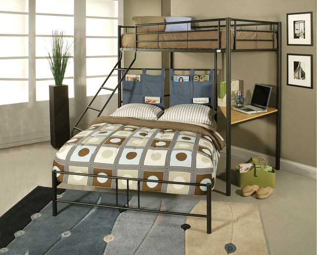 twin size bed over full bunk bed with computer desk bunk bed computer desk