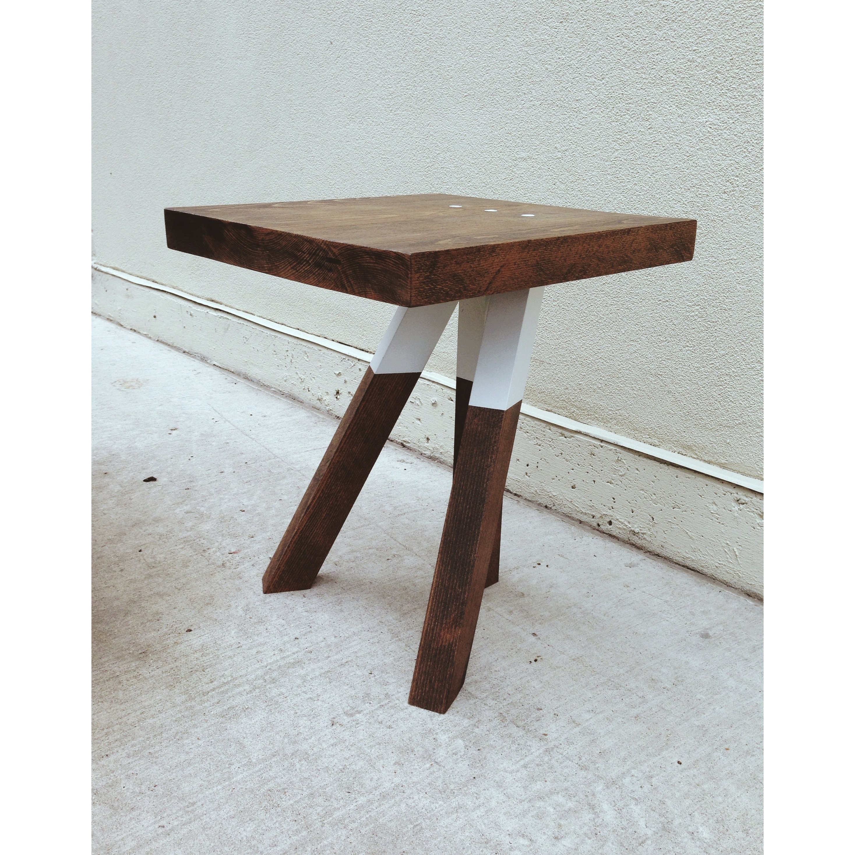 unique tall end table with three legs