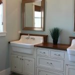 Corner farm sink for bathroom which is built in bathroom vanity wood framed vanity mirror
